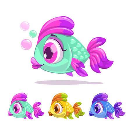nice girl: Cute cartoon little fish.