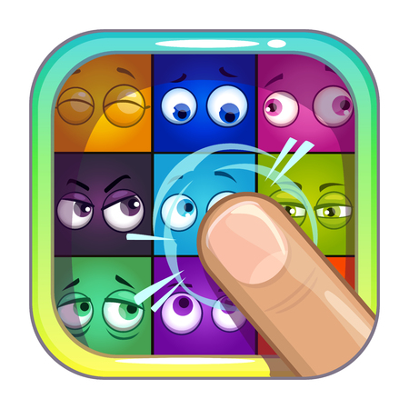 Application store icon template. Illustration
