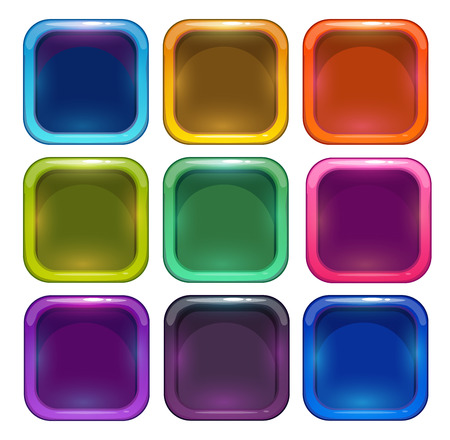 Colorful glossy app icon frames