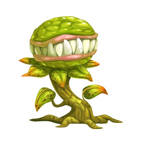 hellish: Monster plant illustration. Illustration