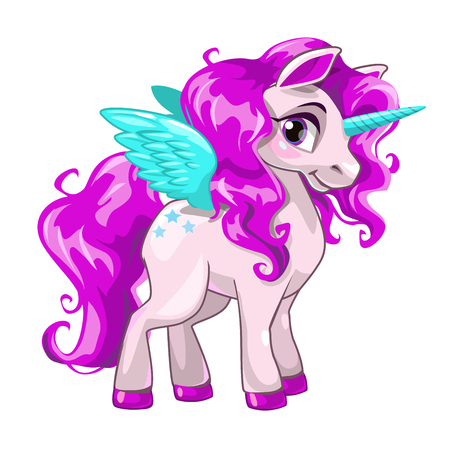 Cute unicorn princess icon.