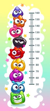 height chart: Kids height chart. Illustration