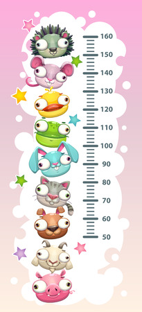 Kids height chart template