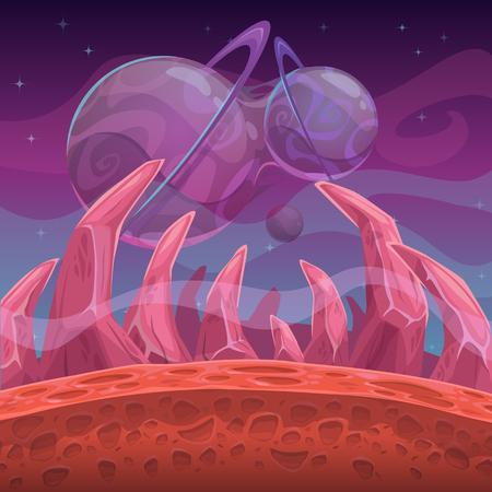 Fantasy alien world landscape.