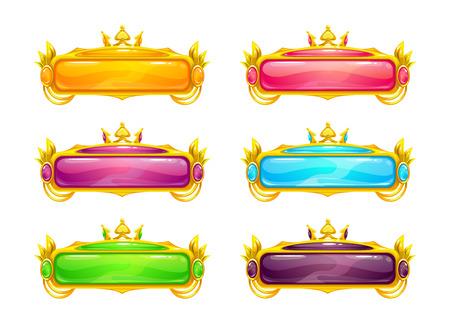 Beautiful colorful long horizontal buttons