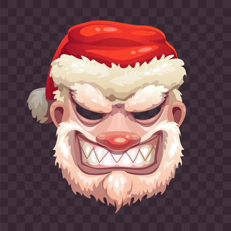 Bad Santa mask on transparent background.