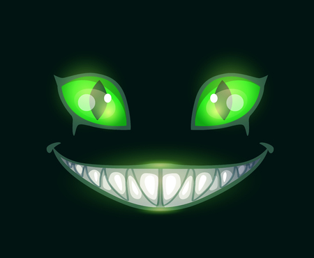 Cartoon scary monster face Imagens