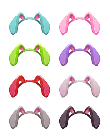 Funny vector colorful bunny ears