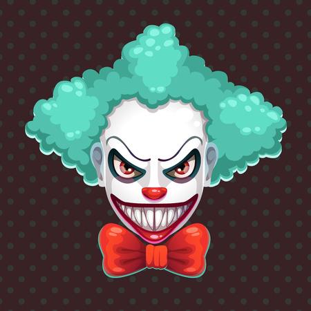 Scary clown face.