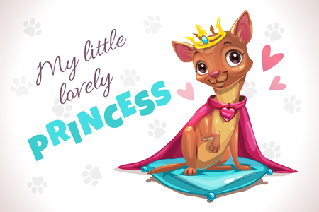My little lovely princess. Cute forizontal poster with pretty chihuahua dog.