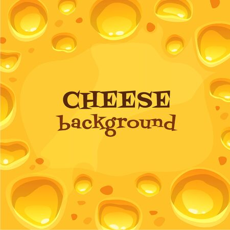 Holland cheese backround. Tasty vector food illustration.