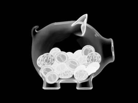 Piggy bank - X-ray Zdjęcie Seryjne