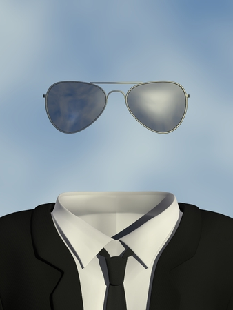 unknown men: Invisible Man with sunglasses