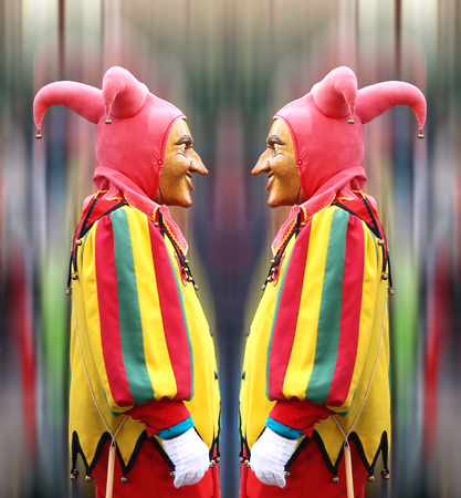 Double Jester Stock Photo
