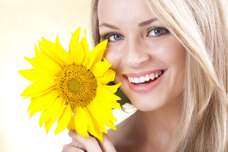 金髪の若い女の子 写真素材