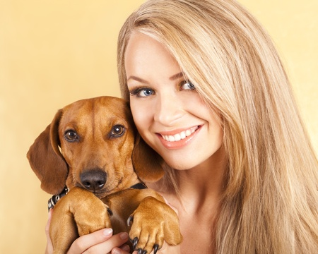 endear: Young girl blonde Stock Photo
