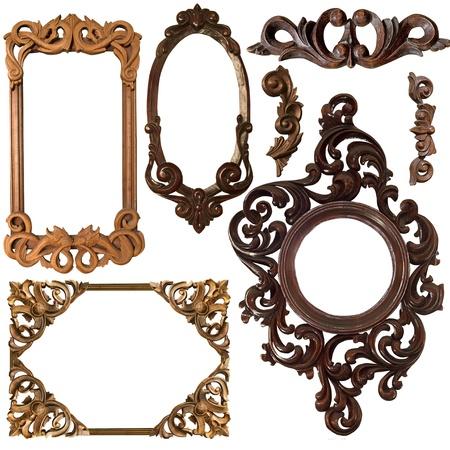spiegelbeeld: Collectie foto gouden frame