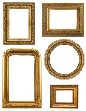 装飾的なパターンを持つコレクション画像ゴールド フレーム