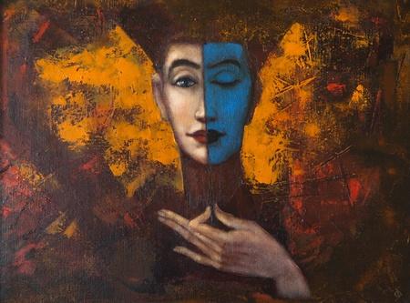 arte moderno: pintura sobre lienzo