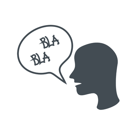 slang: Slang expression in a speech bubble. vector illustration on black background.