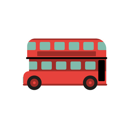 double decker bus: Red Double Decker Bus vector illustration eps10