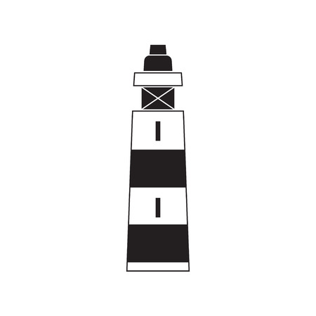 illuminative: Lighthouse navigation simple icon vector.