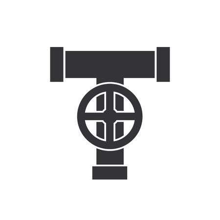 Rohr mit Ventil-Symbol.