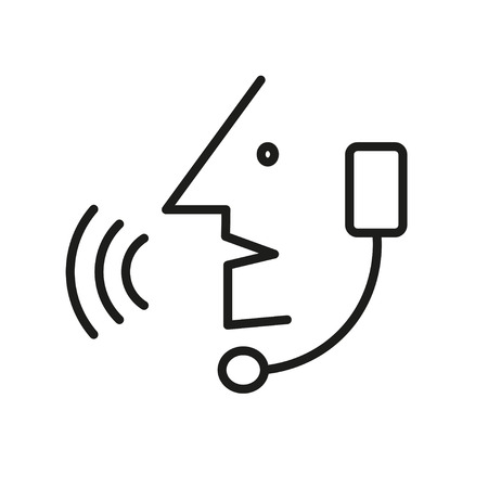 handsfree: Operator in headset, Call Center Operator - Vector icon isolated Illustration