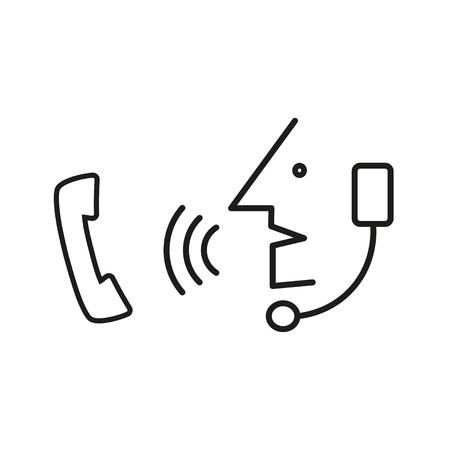 gossiping: Operator in headset speak to handset phone.