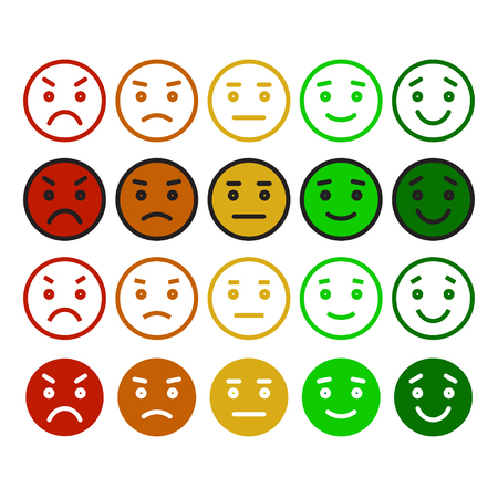 face men: Feedback in form of emotions, smileys, emoji