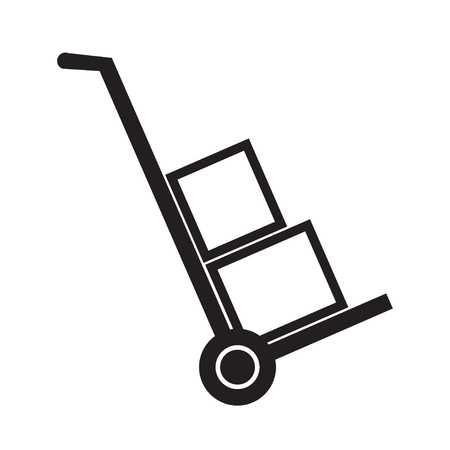 hand truck: Hand truck simple vector icon.