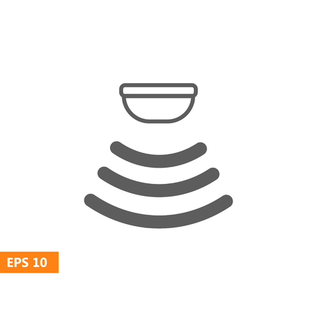 sensor: Sensor waves signal icon for websites and packing design. Vector illustration.