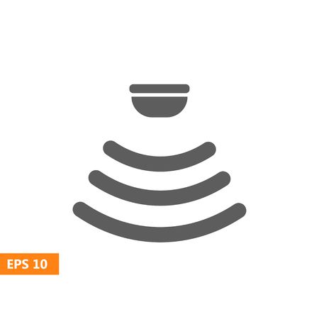range of motion: Sensor waves signal icon for websites and packing design. Vector illustration.
