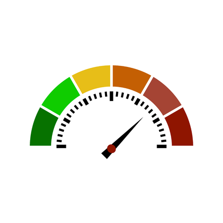 rating gauge: Speedometer or rating meter signs infographic gauge element. Vector illustration