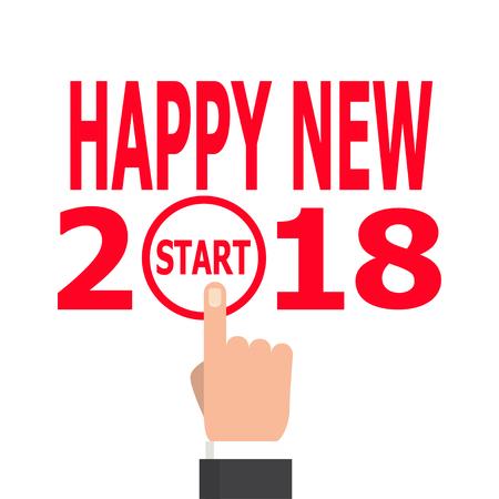 calendar design: Start new year 2018 idea. Illustration