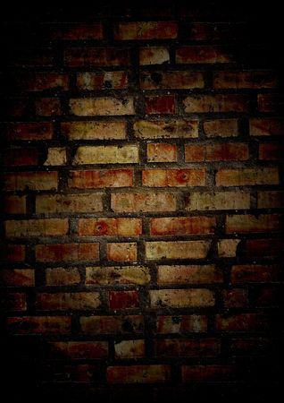 Grunge gekrackte alten Mauer in Nacht Standard-Bild - 3499907