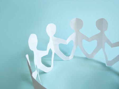community of people holding on hands, concept photo