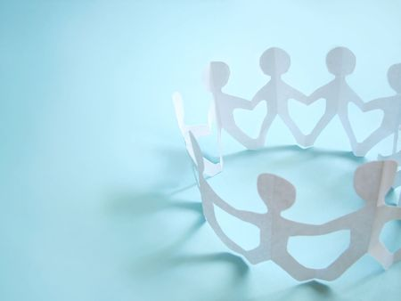 community of people holding on hands, concept Stock Photo - 5286165