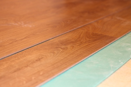 flooring laminate on substrate