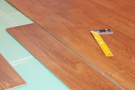 substrate: ruler and laminate on substrate