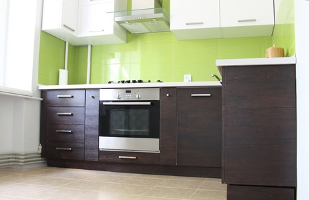 modern domestic Kitchen interior design Stok Fotoğraf