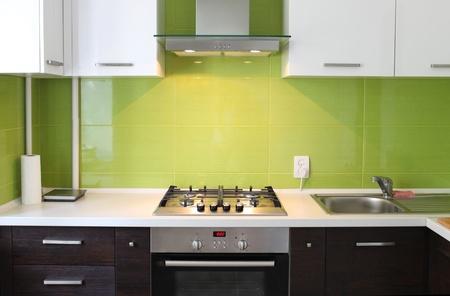 modern domestic Kitchen, stylish inter design Stock Photo - 10089837