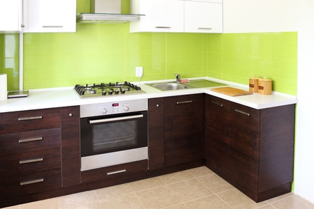cookers: modern domestic Kitchen, stylish interior design