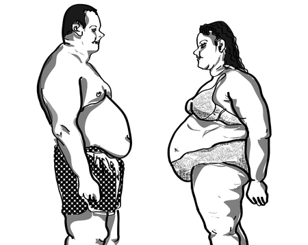 size: Plus size couple