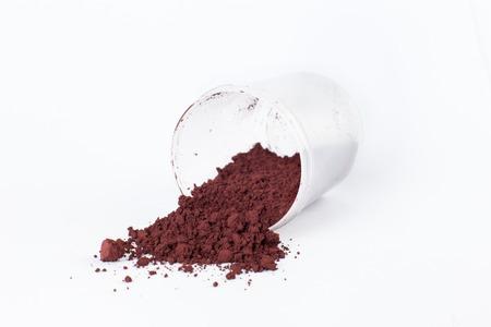 caput mortuum light pigment on a white background Stock Photo