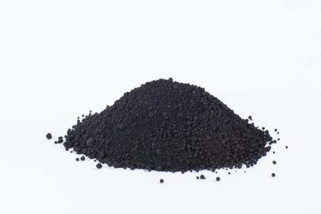 bone black pigment on a white background Stock Photo