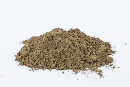umber log pigment on a white background