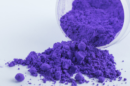Manganese Violet pigment on a white background