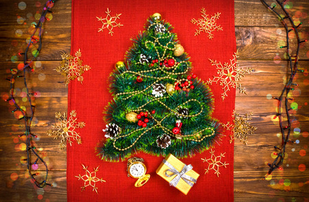 a small christmas tree of tinsel nuts ribbons and ornaments gift for a - Small Christmas Ornaments