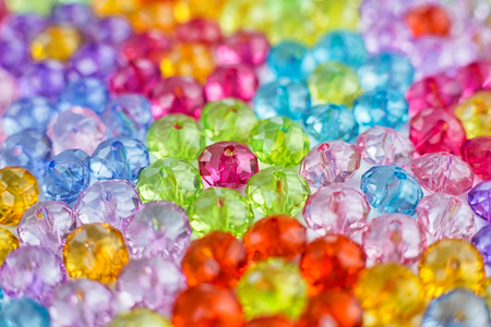 background of colored beads, background of flowers made of colored beads